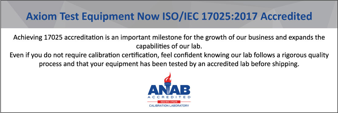 Axiom now ISO 17025 Accredited