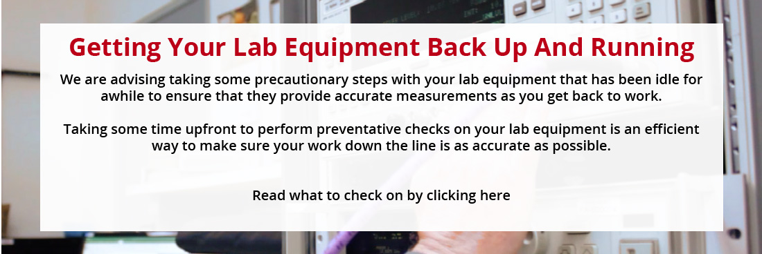Getting your lab equipment back up and running